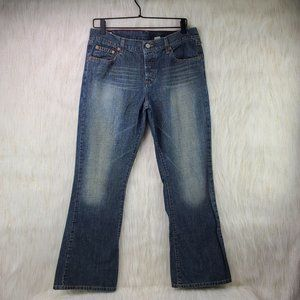 Abercrombie & Fitch Bootcut Med Wash Sz 10 Short